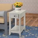 Benzara BM157304 Affiable Side Table, White