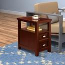 Benzara BM157881 Spacious Chairside Table, Brown