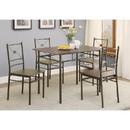 Benzara BM158030 Ironlike Dining Table Set Of Five, Bronze