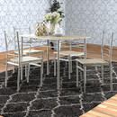 Benzara BM158031 Sturdy Dining Table In A set Of Five, Silver