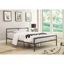 Benzara BM158052 Traditional Styled Full Bed with Sleek Lines, Gray