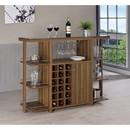 Benzara BM158064 Sturdy Modern Bar Unit with Wine Bottle Storage