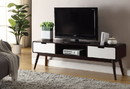 Benzara BM158738 Modish TV Stand, Espresso & White