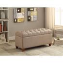 Benzara BM158990 Functionally Stylish Bench, Taupe Brown