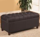 Benzara BM158992 Dapperly Styled Bench, Dark Navy Brown