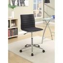 Benzara BM159080 Contemporary Mid-Back Desk Chair, Black