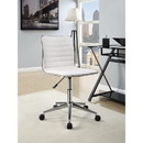Benzara BM159081 Contemporary Mid-Back Desk Chair, White