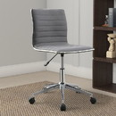 Benzara BM159082 Contemporary Mid-Back Desk Chair, Gray