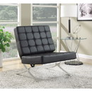 Benzara BM159283 Comfy Fine Accent Chair, Black