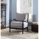 Benzara BM159332 Turned Designing Accent Chair, Gray