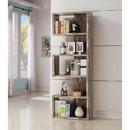 Benzara BM159408 Distressed Wooden Open Bookcase, Brown