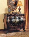 Benzara BM159992 Imperial Wooden Chest, Antique Black & Oak Brown