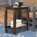 Benzara BM160096 Elegant Wooden Chair Side Table, Brown