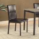 Benzara BM160787 Contemporary Upholstered Dining Chair with Full Back, Black, Set of 2