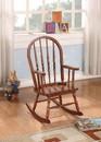 Benzara BM162981 Elegant Wooden Rocking Chair, Tobacco Brown