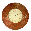 Benzara BM163136 Antique Metal Wall Clock, Bronze
