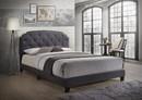 Benzara BM163429 Modern Queen Bed, Gray Fabric