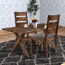 Benzara BM163718 Wooden Ladder Back Dining Chair, Gray & Brown, Set of 2