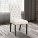 Benzara BM163742 Chic Wooden Dining Side Chair, Beige, Set of 2