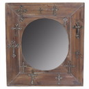 Benzara BM164793 Wooden Mirror, Brown