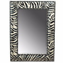 Benzara BM165060 Wooden Mirror, Black And White