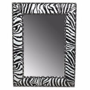 Benzara BM165061 Wooden Mirror, Black And White