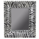 Benzara BM165062 Wooden Mirror, Black And Silver