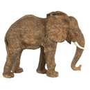 Benzara BM165411 Polyresin Walking Elephant Accent, Brown