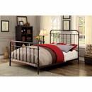 Benzara BM165985 Metal Full Size Platform Bed with Headboard & Footboard, Deep Bronze