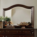 Benzara BM166026 Wooden Beveled mirror, Dark Cherry Brown