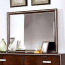 Benzara BM166065 Wooden Beveled Mirror, Brown Cherry