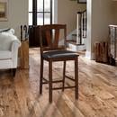 Benzara BM166593 Rubber Wood Counter Height Armless Chair, Dark Walnut brown, Set of 2