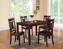 Benzara BM167131 Wooden And Leather 5 Pieces Dining Set In Brown And Black