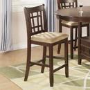Benzara BM168045 Wooden Armless Counter Height Chair, Tan & Warm Brown., Set of 2