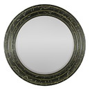 Benzara BM170680 Mirror In Round Wood Frame, Black