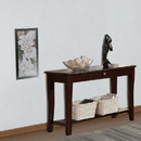 Benzara BM171395 Wooden Console Table With One Drawers Brown