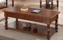 Benzara BM171400 Rubber Wood Coffee Table, Brown