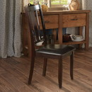 Benzara BM171509 Rubber Wood Dining Chair With Upholstered Seat, Set Of 2, Brown