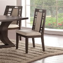Benzara BM171516 Rubber Wood Dining Chair With Cushion Back And Seat, Set Of 2, Brown