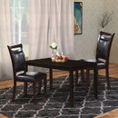 Benzara BM171517 Set Of Two Wooden Dining Chairs In Dark Brown
