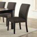 Benzara BM171546 Set Of Two Wooden Frame Dining Chair, Ash Black