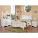 Benzara BM171571 Pine Wood Night Stand With 2 Drawers, White