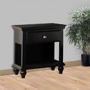 Benzara BM171575 Wood Night Stand With Drawer, Black