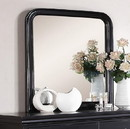 Benzara BM171578 Polyresin Mirror With Solid Frame, Black