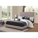 Benzara BM172152 Panel Bed, Gray