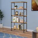 Benzara BM172242 Rustically designed Bookcase With 4 Open Shelves