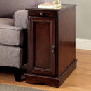 Benzara BM172784 Transitional Side Table With USB, Cherry