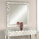 Benzara BM177744 Square Wall Accent Mirror, Gold