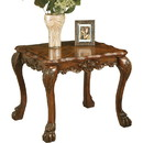 Benzara BM177816 Wooden End Table In Traditional Style , Cherry Oak Brown
