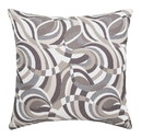 Benzara BM177975 Contemporary Style Swirling Pattern Set of 2 Throw Pillows, Multicolor